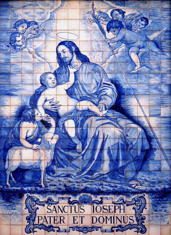 Azulejo de la entrada iglesia del se or san jos for Azulejos para entradas