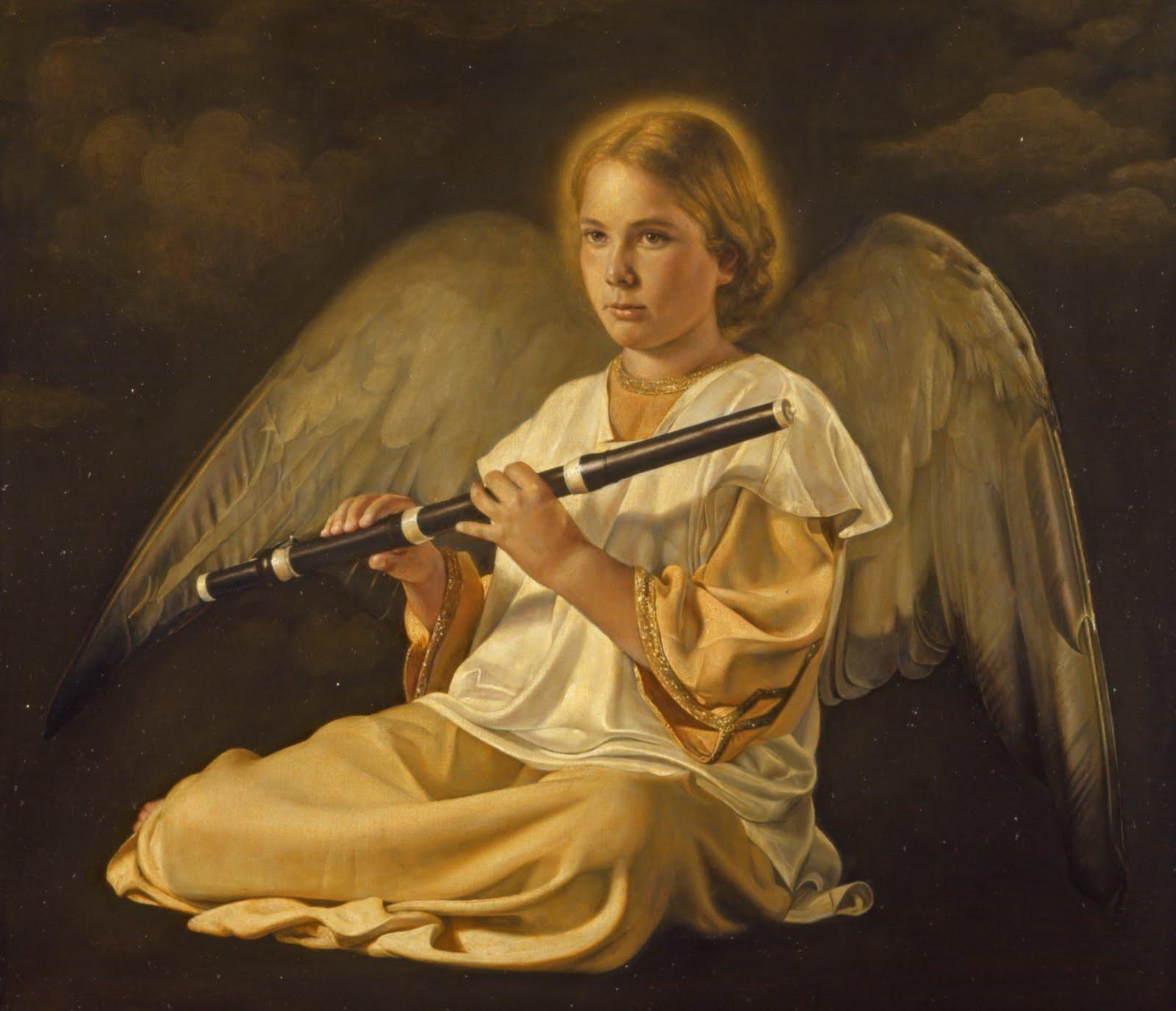 angel con flauta